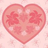 Κάρτα αγάπης με τη floral ανθοδέσμη Στοκ φωτογραφία με δικαίωμα ελεύθερης χρήσης