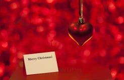 Κάρτα αγάπης Χαρούμενα Χριστούγεννας Στοκ φωτογραφία με δικαίωμα ελεύθερης χρήσης