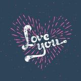 Κάρτα αγάπης Grunge Στοκ Φωτογραφία