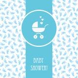 Κάρτα αγοριών ντους μωρών Στοκ Εικόνες