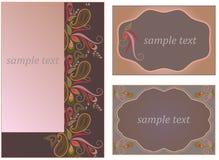 Κάρτα - ανατολικό σχέδιο με το Paisley και τα λουλούδια Παραδοσιακή διακόσμηση - διάνυσμα Στοκ εικόνα με δικαίωμα ελεύθερης χρήσης