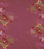 Κάρτα - ανατολικό σχέδιο με το Paisley και τις πεταλούδες Παραδοσιακή διακόσμηση - διάνυσμα Στοκ φωτογραφία με δικαίωμα ελεύθερης χρήσης