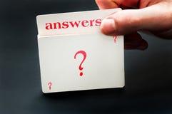 Κάρτα απαντήσεων Στοκ Εικόνα