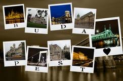 Κάρτα από τη Βουδαπέστη Στοκ Φωτογραφίες