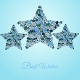 Κάρτα αστεριών λουλουδιών Στοκ Φωτογραφία