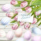 Κάρτα αυγών Πάσχας 10 eps Στοκ φωτογραφίες με δικαίωμα ελεύθερης χρήσης