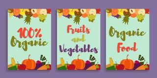 Κάρτα λαχανικών φρούτων Στοκ Εικόνα