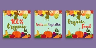 Κάρτα λαχανικών φρούτων Στοκ Φωτογραφία