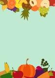 Κάρτα λαχανικών φρούτων Στοκ φωτογραφία με δικαίωμα ελεύθερης χρήσης