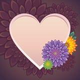 Κάρτα βαλεντίνων λουλουδιών Στοκ εικόνες με δικαίωμα ελεύθερης χρήσης