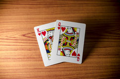 Κάρτα βασίλισσας βασιλιάδων αγάπης Στοκ φωτογραφία με δικαίωμα ελεύθερης χρήσης