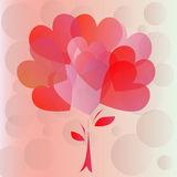 Κάρτα βαλεντίνων καρδιών στοκ εικόνα