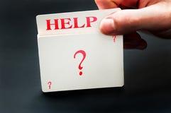 Κάρτα βοήθειας Στοκ Εικόνα