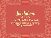 Κάρτα γαμήλιων πρόσκλησης και ανακοίνωσης με τη διακόσμηση στο αραβικό ύφος Σχέδιο Arabesque Ανατολική εθνική διακόσμηση Στοκ εικόνα με δικαίωμα ελεύθερης χρήσης