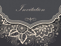 Κάρτα γαμήλιων πρόσκλησης και ανακοίνωσης με τη διακόσμηση στο αραβικό ύφος Σχέδιο Arabesque Ανατολική εθνική διακόσμηση Στοκ φωτογραφίες με δικαίωμα ελεύθερης χρήσης