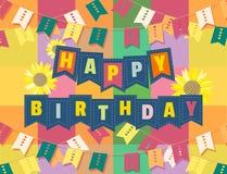 κάρτα γενεθλίων ευτυχής Στοκ εικόνες με δικαίωμα ελεύθερης χρήσης