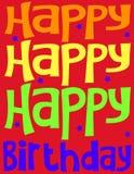 κάρτα γενεθλίων ευτυχής στοκ φωτογραφίες με δικαίωμα ελεύθερης χρήσης