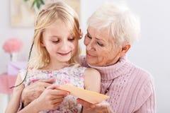 Κάρτα γενεθλίων για το grandma Στοκ Φωτογραφία