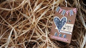κάρτα γενεθλίων ευτυχής Στοκ φωτογραφία με δικαίωμα ελεύθερης χρήσης