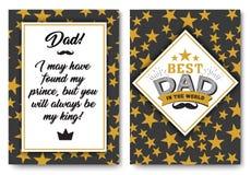 Κάρτα γενεθλίων μπαμπάδων με τις λέξεις της αγάπης Στοκ φωτογραφία με δικαίωμα ελεύθερης χρήσης