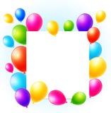 κάρτα γενεθλίων μπαλονιών Στοκ φωτογραφία με δικαίωμα ελεύθερης χρήσης