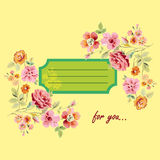 Κάρτα για σας με τα λουλούδια Στοκ Εικόνες