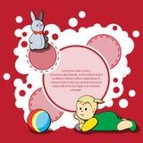 Κάρτα για τα συγχαρητήρια παιδιών Στοκ Εικόνα