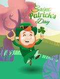Κάρτα για την ευτυχή ημέρα Αγίου Patricks διανυσματική απεικόνιση