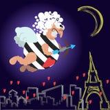 Κάρτα για την ημέρα βαλεντίνων ελεύθερη απεικόνιση δικαιώματος