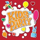 Κάρτα για το κόμμα παιδιών Στοκ φωτογραφία με δικαίωμα ελεύθερης χρήσης