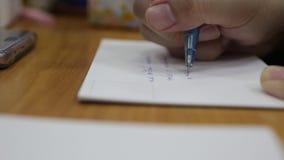 Κάρτα γραψίματος ατόμων της Ασίας απόθεμα βίντεο