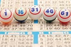 κάρτα γ ι ν ο bingo β που συλλ&alpha Στοκ φωτογραφία με δικαίωμα ελεύθερης χρήσης