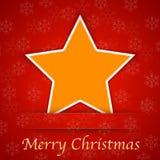 Κάρτα δώρων Καλών Χριστουγέννων με ένα απλό αστέρι Στοκ Φωτογραφία
