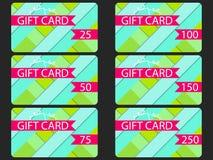 Κάρτα δώρων στο υλικό ύφος σχεδίου Στρώματα του κομμένου εγγράφου Η κάρτα carGift στο υλικό ύφος σχεδίου Στρώματα του κομμένου εγ Στοκ Εικόνες