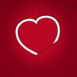 κάρτα εγγράφου καρδιών Στοκ φωτογραφία με δικαίωμα ελεύθερης χρήσης