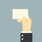 Κάρτα εκμετάλλευσης χεριών επιχειρηματιών διανυσματική απεικόνιση