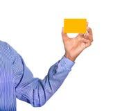 Κάρτα εκμετάλλευσης χεριών Στοκ Φωτογραφία