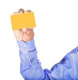 Κάρτα εκμετάλλευσης χεριών Στοκ εικόνα με δικαίωμα ελεύθερης χρήσης