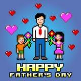 Κάρτα εορτασμού λουλουδιών ημέρας πατέρα - διάνυσμα στρωμάτων εικονοκυττάρου Στοκ Εικόνες
