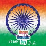 Κάρτα εορτασμών ημέρας Δημοκρατίας της Ινδίας Στοκ Φωτογραφία