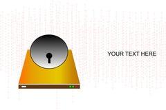 Κάρτα επίσκεψης κλειδαριών στοκ εικόνα