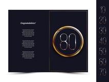 Κάρτα επετείου για την πρόσκληση/τα συγχαρητήρια Στοκ Εικόνες