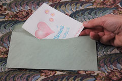 Κάρτα επετείου Στοκ Εικόνες