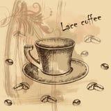 Κάρτα, επιλογές με το σκίτσο του coffe Στοκ Φωτογραφίες