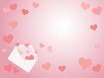 Κάρτα επιστολών αγάπης Στοκ φωτογραφία με δικαίωμα ελεύθερης χρήσης