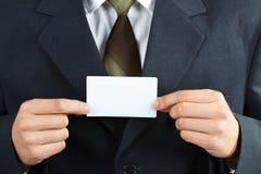 κάρτα επιχειρηματιών Στοκ εικόνα με δικαίωμα ελεύθερης χρήσης