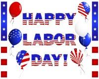 Κάρτα Εργατικής Ημέρας. Στοκ εικόνες με δικαίωμα ελεύθερης χρήσης