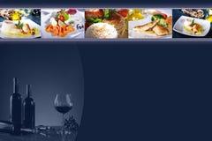 Κάρτα εστιατορίων Στοκ εικόνα με δικαίωμα ελεύθερης χρήσης