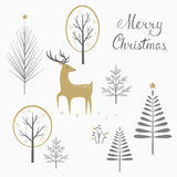 Κάρτα ελαφιών Χριστουγέννων Στοκ Εικόνες