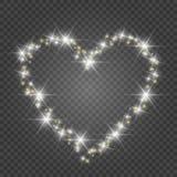 Κάρτα ημέρας βαλεντίνου με τις καρδιές Φω'τα και θαμπάδες διανυσματική απεικόνιση